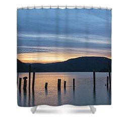 Dusk Sentinels Shower Curtain by Angelo Marcialis