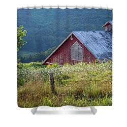 Shower Curtain featuring the photograph Dusk View by Susan Cole Kelly