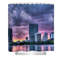 Dusky Downtown Orlando, Florida Shower Curtain