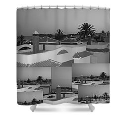 Dusky Rooftops Shower Curtain