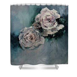 Dusky Roses Shower Curtain