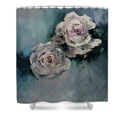 Dusky Roses Shower Curtain