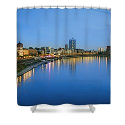 Dusseldorf Skyline  Shower Curtain