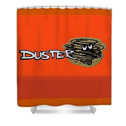 Shower Curtain featuring the photograph Duster Emblem by Mike McGlothlen