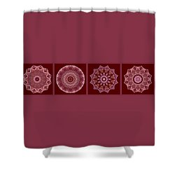 Dusty Rose Mandala Fractal Panel Shower Curtain