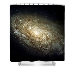Dusty Spiral Galaxy  Shower Curtain by Hubble Space Telescope