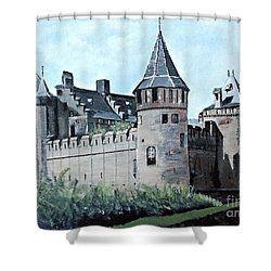 Dutch Castle In Muiden Shower Curtain