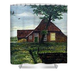 Dutch Farm At Dusk Shower Curtain