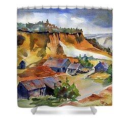 Dutch Flat Diggin's Gold Shower Curtain