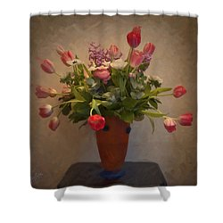 Dutch Flowers Blooming Shower Curtain by Nop Briex