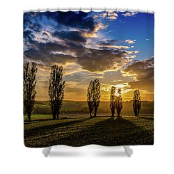 Dutch Moutains At Sunset Shower Curtain