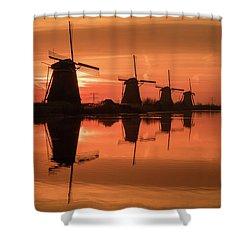 Dutch Sillhouette Shower Curtain