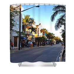 Duval Street In Key West Shower Curtain by Susanne Van Hulst