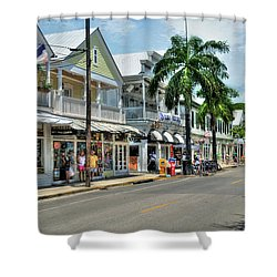 Duval Street - Key West Shower Curtain