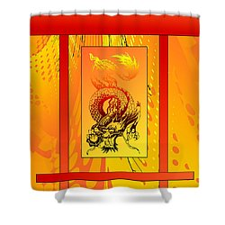 Shower Curtain featuring the photograph Duvet Dragon Fire by Robert Kernodle