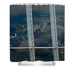 Shower Curtain featuring the photograph Duxford Dakota Daydream by Gary Eason