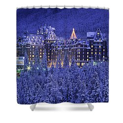 D.wiggett Banff Springs Hotel In Winter Shower Curtain