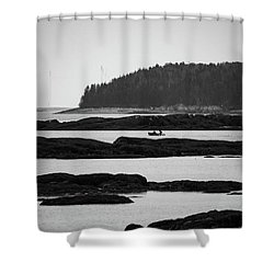 Shower Curtain featuring the photograph Dwon East Maine  by Trace Kittrell