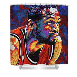 Dwyane Wade 3 Shower Curtain by Maria Arango