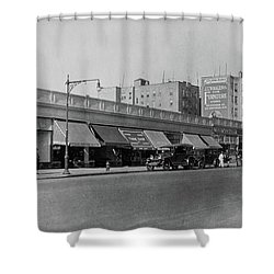 Shower Curtain featuring the photograph Dyckman Street, 1927 by Cole Thompson