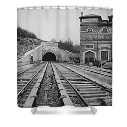 Shower Curtain featuring the photograph Dyckman Street Station by Cole Thompson