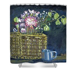 Dying Flowers Shower Curtain by Michael Daniels