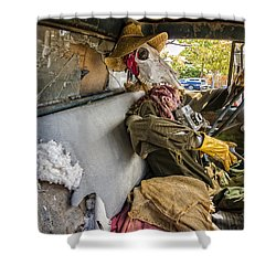 Dying For The Shot Shower Curtain by Caitlyn Grasso