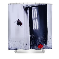 Dying Is Easy Shower Curtain by Stanza Widen