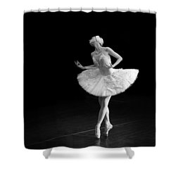 Dying Swan 3 Alternate Crop Shower Curtain