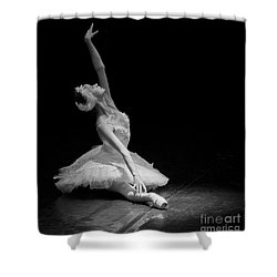 Shower Curtain featuring the photograph Dying Swan II. by Clare Bambers