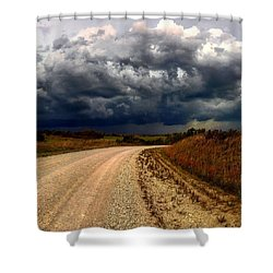 Dying Tornadic Supercell Shower Curtain