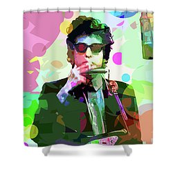 Dylan In Studio Shower Curtain by David Lloyd Glover