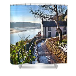 Dylan Thomas Boathouse 1 Shower Curtain
