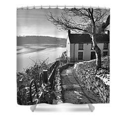 Dylan Thomas Boathouse 1b Shower Curtain