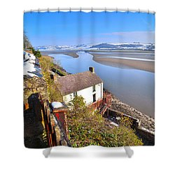Dylan Thomas Boathouse 2 Shower Curtain