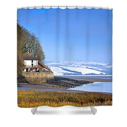 Dylan Thomas Boathouse 3 Shower Curtain
