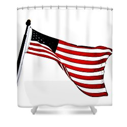 Dynamic Stars And Stripes Shower Curtain