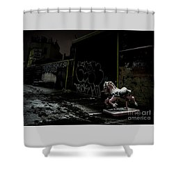 Dystopian Playground 1 Shower Curtain