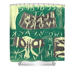 E Cd Grey And Green Shower Curtain