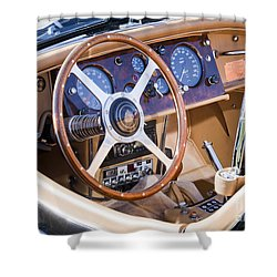 E-type Jaguar Dashboard Shower Curtain