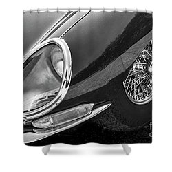 Shower Curtain featuring the photograph E-type Monotone by Dennis Hedberg