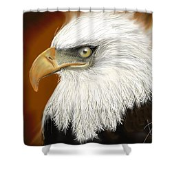 Shower Curtain featuring the digital art Eagle American by Darren Cannell