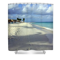 Shower Curtain featuring the photograph Eagle Beach Aruba by Suzanne Stout