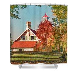 Eagle Bluff Lighthouse_1 Shower Curtain