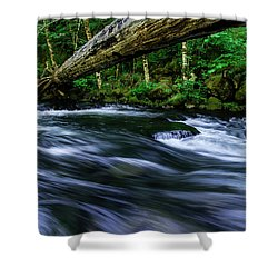 Eagle Creek Rapids Shower Curtain