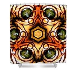 Shower Curtain featuring the digital art Eagle Eye Ray by Derek Gedney