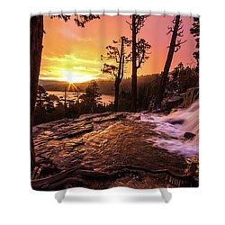 Eagle Falls Sunrise Shower Curtain