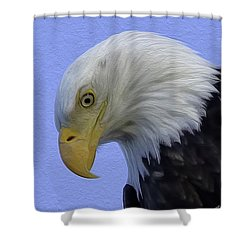 Eagle Head Paint Shower Curtain