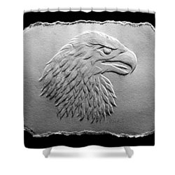 Eagle Head Relief Drawing Shower Curtain