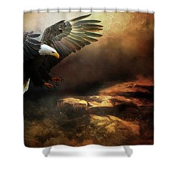 Eagle Is Landing Shower Curtain